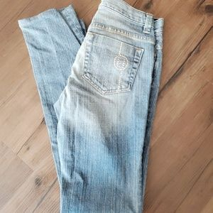 Bebe Mid Rise Bootcut Jeans